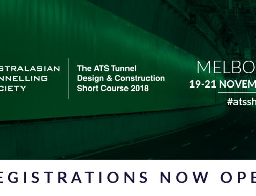ATS Tunnel Design & Construction Short Course, Melbourne, 19-21 November 2018