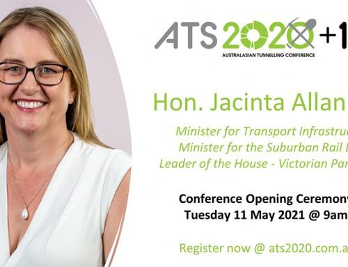 Hon. Jacinta Allan to Open Australian Tunnelling Conference 2020+1